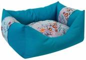 Лежак для собак ZOOexpress Пухлик Дикие травы №1 43х32х21 см