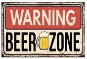 "Табличка настенная Ekoramka ""Beer zone"", металлическая"