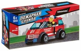 Конструктор BONDIBON Пожарная служба ВВ3659 Машина