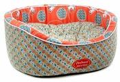 Лежак для кошек, для собак Родные места Премиум №1 Персиковый кот 43х38х15 см