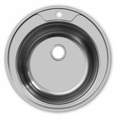 Врезная кухонная мойка UKINOX Round R 490 ECO 49х49см нержавеющая сталь