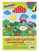 Цветной картон Узор горошек Юнландия, A4, 5 л., 5 цв.