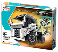 Электромеханический конструктор QiHui Mechanical Master 8018 Стальные тягачи 2 в 1