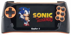 SEGA Genesis Gopher 2 LCD 4.3 Blue 500 игр