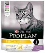 Корм для кошек Purina Pro Plan Light для здоровья кожи и шерсти, с индейкой
