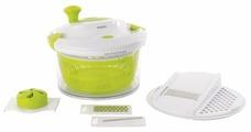 Набор комбинированный со сменными насадками для приготовления салата (миска, сушилка, терка) CooknCo 2800112 BergHOFF