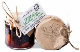 Варенье Таёжный Тайник из сосновой шишки с ореховым ассорти (грецкий орех, фундук, миндаль), банка 240 г