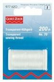 Prym 977620 Прозрачная нить для машинного и ручного шитья, бисероплетения 70, 200 м