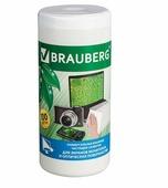 BRAUBERG 510122 влажные салфетки 100 шт. для оптики, для экрана