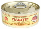 """Паштет Йошкар-Олинский мясокомбинат печеночный """"Нежный"""" с копченостями 100 г"""