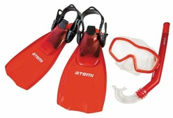 Набор для плавания с ластами ATEMI 24200 размер 28-31