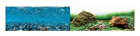 Пленочный фон BARBUS Горная река/Зеленое море двухсторонний