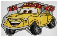 Придверный коврик VELCOC для детей на прорезинненой основе Disney Тачка желтая M20037