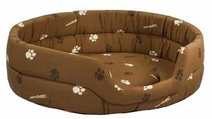 Лежак для собак Дарэлл Овальный стёганый 9144 75х60х18 см