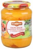 Персики очищенные Олинеза половинки в легком сиропе 700 г