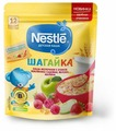 Каша Nestlé молочная Шагайка 5 злаков с кусочками земляники садовой, яблока и малиной (с 12 месяцев) 200 г дойпак