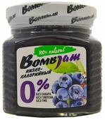 Джем низкокалорийный BombBar Голубика-Черника без сахара, банка 250 г