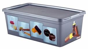 ПОЛИМЕРБЫТ Коробка для обувных аксессуаров 34x19x12 см