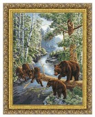 Золотое Руно Набор для вышивания Медвежий край 35 х 46,6 см (ДЖ-035)