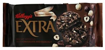 Печенье Kellogg's Extra гранола с шоколадом и фундуком, 75 г