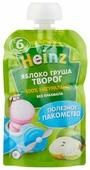 Пюре Heinz яблоко, груша, творог (с 6 месяцев) 90 г, 1 шт