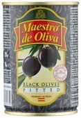 Maestro De Oliva Маслины в рассоле без косточки, жестяная банка 280 г
