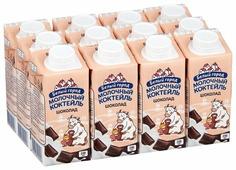 Молочный коктейль Белый город Шоколад 1.2%, 200 мл, 12 шт.