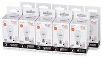 Упаковка светодиодных ламп 10 шт gauss 23215, E27, A60, 15Вт