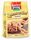 Вафли Loacker Квадратини со вкусом тирамису 220 г
