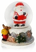 Снежный шар УРРА с Санта-Клаусом и оленем