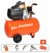 Компрессор масляный PATRIOT Euro 50-260K, 50 л, 1.8 кВт