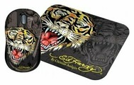 Мышь Ed Hardy Wired mouse+pad Tiger Black USB