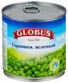 Горошек зеленый Globus нежный, жестяная банка 400 г 425 мл