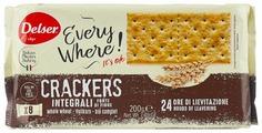 Крекеры Delser Crackers Integrali из непросеянной муки, 200 г