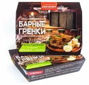 ГРЕНКОВЪ Гренки барные ржано-пшеничные со вкусом холодца и хрена, 70 г