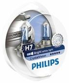 Лампа автомобильная галогенная Philips Crystal Vision 12972CVSM H7 12V 55W + W5W 4 шт.