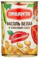 Фасоль Пиканта белая в томатном соусе, жестяная банка 420 г