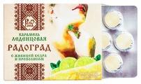 Леденцы живичные Радоград с прополисом лимон и мёд на сахаре 32 г
