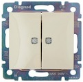 Выключатель 2х1-полюсный Legrand Valena 774328,10А, слоновая кость