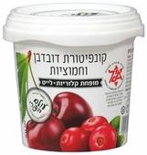 Варенье Fruit World вишнево-клюквенное без сахара, банка 500 г
