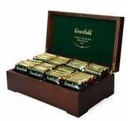 Чай Greenfield ассорти в пакетиках подарочный набор в деревянной шкатулке