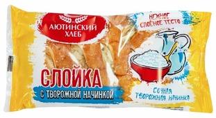 Аютинский хлеб слойка с творожной начинкой