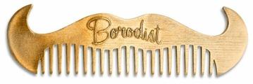 Расческа для усов и бороды Borodist Бронзовая в форме усов