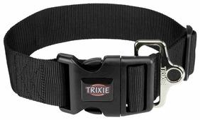 Ошейник для собак TRIXIE Premium Collar M-L 50 мм 40-60 см черный (1999301)