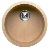 Врезная кухонная мойка Tolero R-104 43.5х43.5см полимер