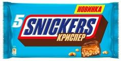 Батончик Snickers Криспер с арахисом, карамелью и воздушным рисом, 40 г
