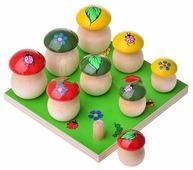 Развивающая игрушка Русская народная игрушка Грибы на поляне, 9 шт