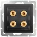 Телекоммуникационная розетка Werkel WL08-AUDIOx4, черный