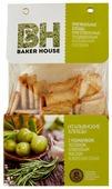 Хлебцы итальянские пшеничные BAKER HOUSE с розмарином, чесноком, оливковым маслом и морской солью 250 г