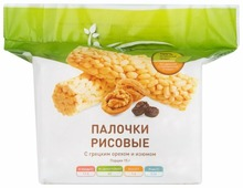 Палочки рисовые Balance с грецким орехом и изюмом 90 г